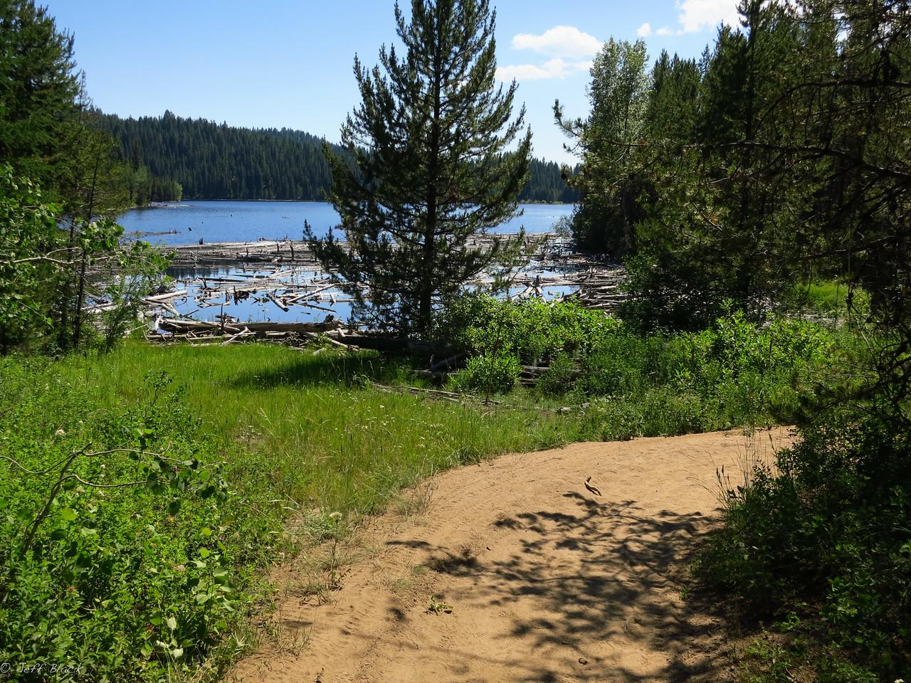 Upper Jug Reservoir brings a sense of progress.