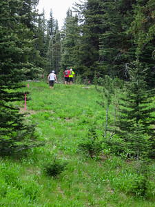 Paul, Brent, and Zeb just ahead out of Shaw/Twin aid.