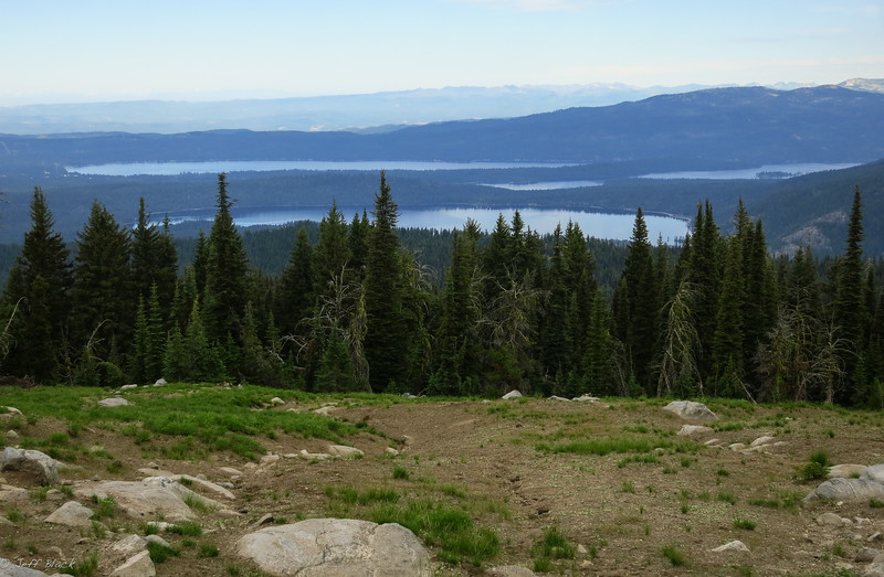 View of Payette Lake valley from Boulder Mountain.