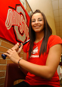 Melissa Rennie of Wellington will sign to play softball at Ohio State Nov. 12.   Steve Manheim/CT