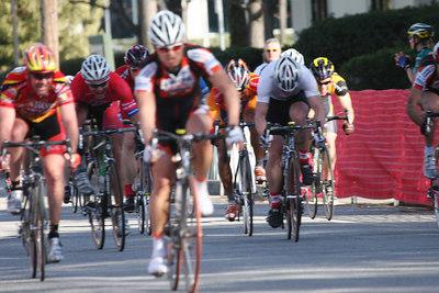 Steve Pelaez wins. (Sorry, this photo is out of focus, but the winner looks like Steve Pelaez.)