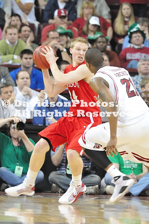 17 March 2009: Davidson upsets SEC foe South Carolina in opening round NIT action 70-63.