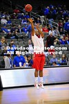 19 December 2011:  Nik Cochran scored 19 of his 21 points in the second half to lead Davidson to an 80-74 men's basketball victory over No. 12 Kansas (AP Poll) Monday night  at Sprint Center in Kansas City, Missouri.