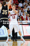 06 February 2012: Davidson got a balanced scoring effort, led by JP Kuhlman's 14 points, and gave up just 15 first-half points to come away with a 76-54 Southern Conference men's basketball victory over Wofford at Belk Arena in Davidson, North Carolina.