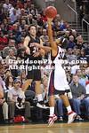 SEATTLE, WA - Gonzaga (#21) defeats Davidson 103-91 in non-conference basketball action held at the KeyArena in Seattle, Washington.