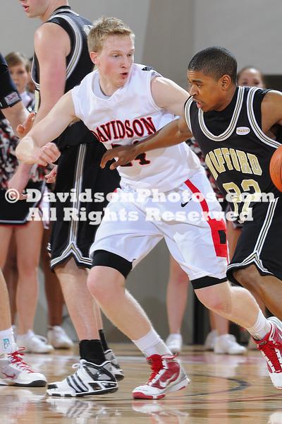 DAVIDSON, NC -  Wofford defeats Davidson 73-51 in SoCon action at Belk Arena in Davidson, North Carolina.