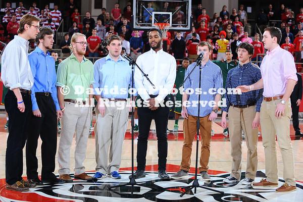 NCAA BASKETBALL:  FEB 11 George Mason at Davidson