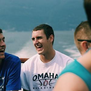 Ben Kositzke during a private boat tour of Lake Como Photo by Megan McKenna