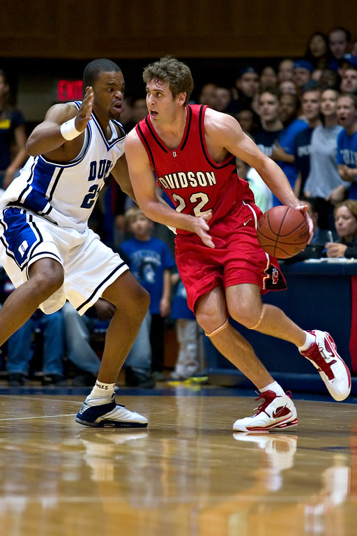 davidson college at duke university men's basketball ncaa sports photos pictures pics photography