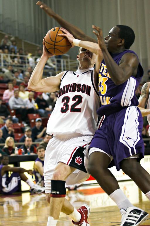 davidson college wildcats versus western carolina men's basketball ncaa sports photos photography pics