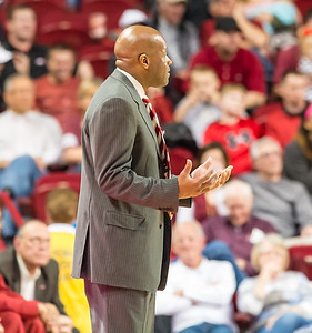 Arkansas Razorbacks head coach Mike Anderson during a basketball game between Arkansas and Auburn on 2-17-16.   (Alan Jamison, Nate Allen Sports Service)