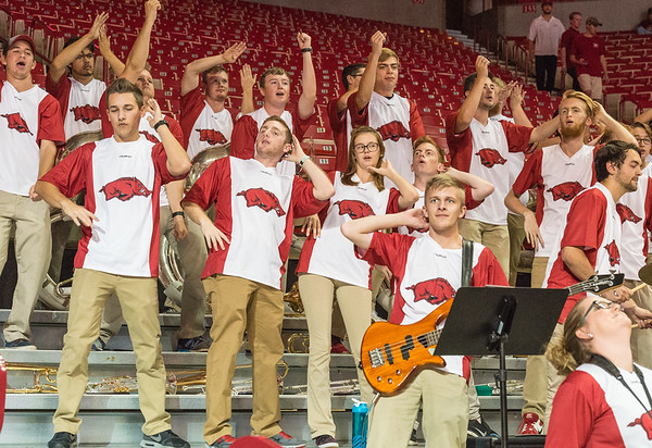 during a basketball game between Arkansas and Central Missouri on Friday, October 28, 2016.  (Alan Jamison, Nate Allen Sports Service)