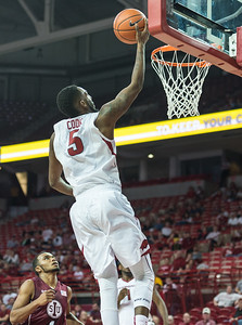 Arkansas Razorbacks forward Arlando Cook (5) shoots during a basketball game between Arkansas and Southern Illinois University on Monday, November 14, 2016.  (Alan Jamison, Nate Allen Sports Service)