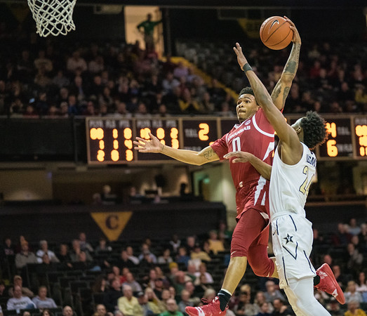 Arkansas Razorbacks guard Desi Sills (0) goes up for a shot  during a basketball game between the Arkansas Razorbacks and the Vanderbilt Commodores on Wednesday, March 6, 2019, at Memorial Gymnasium.  (Alan Jamison, Nate Allen Sports Service)