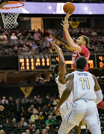Arkansas Razorbacks forward Daniel Gafford (10) shoots  during a basketball game between the Arkansas Razorbacks and the Vanderbilt Commodores on Wednesday, March 6, 2019, at Memorial Gymnasium.  (Alan Jamison, Nate Allen Sports Service)