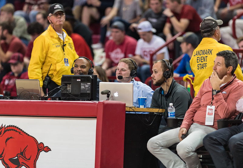 during a basketball game between Arkansas and Southern Illinois University on Monday, November 14, 2016.  (Alan Jamison, Nate Allen Sports Service)