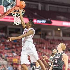 Arkansas Razorbacks guard C.J. Jones (23) with a layup  during a basketball game between Arkansas and Central Missouri on Friday, October 28, 2016.  (Alan Jamison, Nate Allen Sports Service)