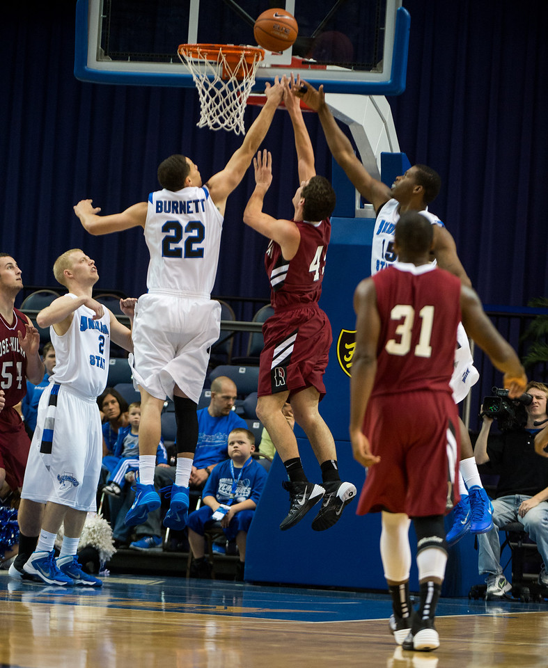 The Indiana State mens basketball team faced Rose-Hulman in an exhibition game at Hulman Center