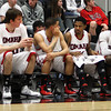 Men's basketball bench<br /> Photo by Mark Kuhlmann