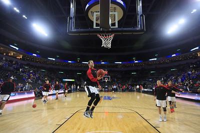 Basketball warmups, Alex Allbery