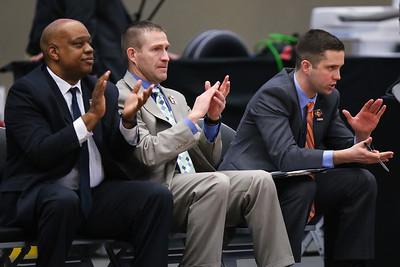 Coach Tyler Erwin, John Ritzdorf, Coach Pat Eberhart