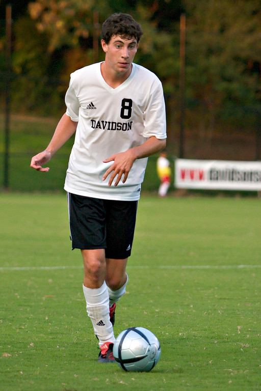 davidson college versus unc-c men's soccer ncaa sports photos