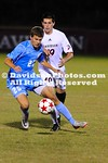 17 October 2011:  Davidson defeats No. 2 North Carolina 1-0 in men's non-conference soccer action at Alumni Soccer Stadium in Davidson, North Carolina.  Jake Keator (12) scored the lone goal for the Wildcats in the 82nd minute.