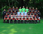 16 August 2011:  The Davidson College soccer team's posed for team shots at Alumni Soccer Stadium in Davidson, North Carolina.