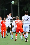 27 August 2012: The Davidson men's soccer team opened its 2012 campaign with a double overtime scoreless draw against visiting Clemson in front of 1,239 fans at Alumni Field in Davidson, North Carolina.