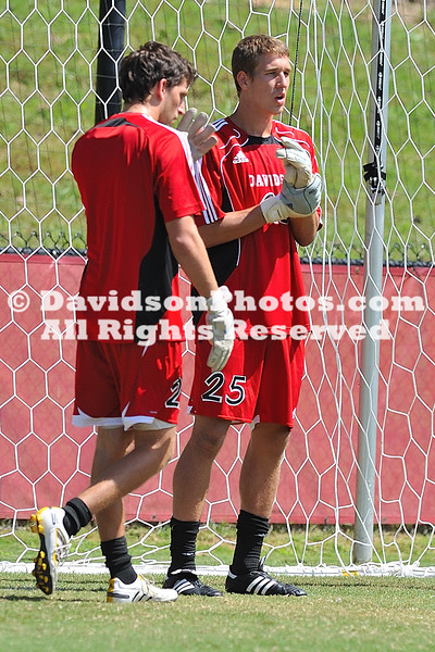 05 September 2010:  Davidson men's soccer ends their weekend with a 2-2 tie against Bowling Green at 1992 Field in Davidson, North Carolina.