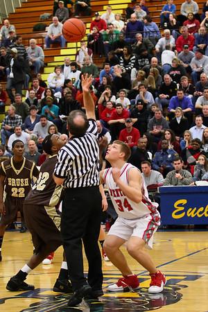 Mentor Varsity Basketball vs Brush at Euclid
