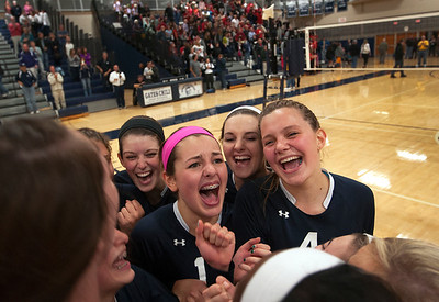 2013 Mercy volleyball wins sectional title