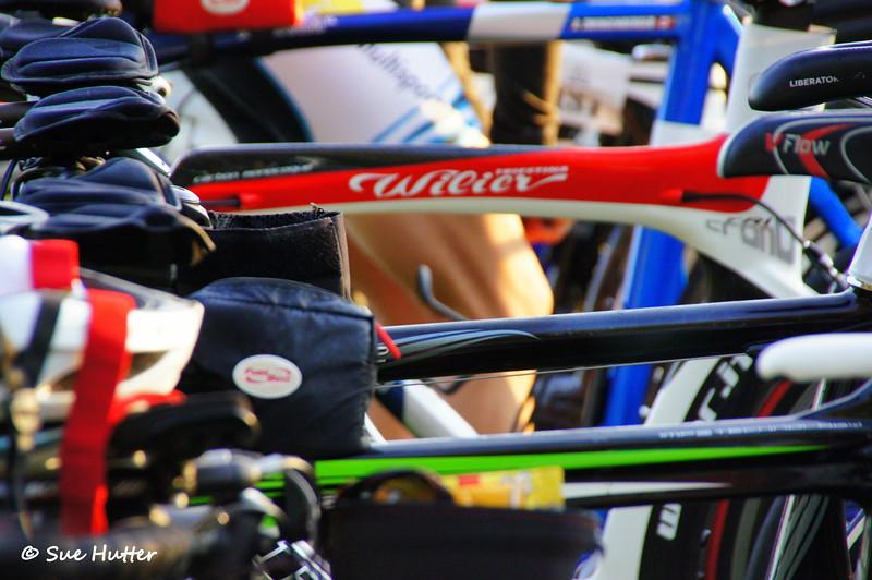 I spy a Susan Zody bike ~ race day morning @ Rev3 Portland 2012