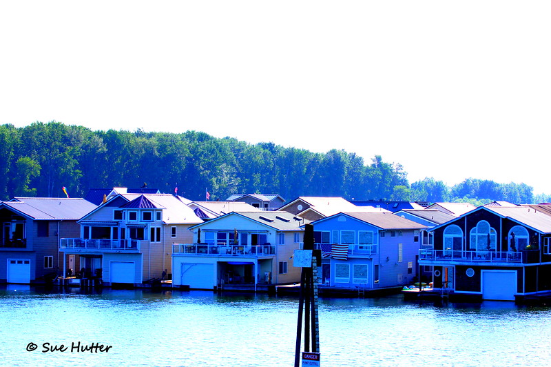 The view along Blue Lake on Marine Drive ~ Rev3 Portland 2012