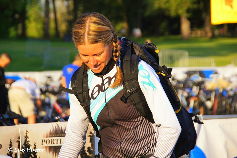 Charisa Wernick ~ race day morning ~ always with a smile!
