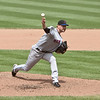 NY Met Mike Pelfrey pitching against the Baltimore Orioles at Camden Yards on June 13, 2010.