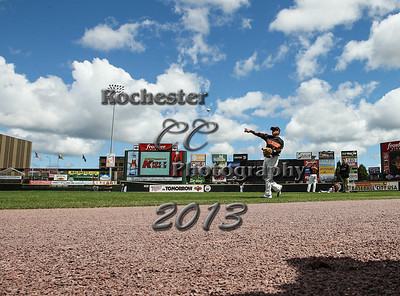August 4, 2013;  Rochester, NY; USA; Rochester Red Wings vs. Syracuse Skychiefs at Frontier Field  Photo: Christopher Cecere