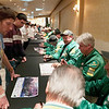 Record-Eagle/Douglas Tesner<br /> Wertz Warriors sign autographs for participants before the opening ceremonies of the Special Olympics.
