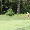 Sarah Burnham chips onto the green during the final round of the 27th Michigan PGA Women's Open at Crystal Mountain on July 1.