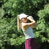 Sarah Burnham tees off during the final round of the 27th Michigan PGA Women's Open at Crystal Mountain on July 1.