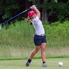 Record-Eagle/Brett A. Sommers Orlando, Florida's Lili Cammisa hits a drive during Monday's Michigan Women's Open.