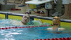 Gabor Csepregi - eyeing the swimmer who beat him.