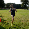 Midd South XC Battle at OCP, 9/14/12; Theo crosses the 5K finish line at 18:01