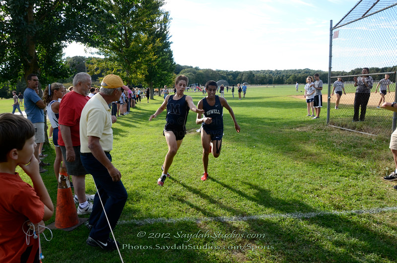 Luke Carberry Mogan at the finish line, Midd South Cross Country at Bucks Mill Park, Colts Neck, 9/19/2012