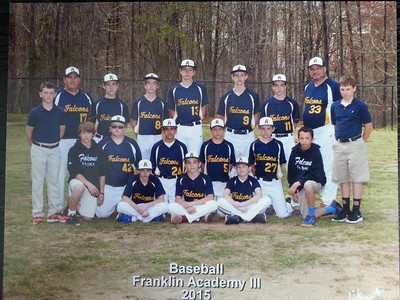 Middle School Baseball 2015