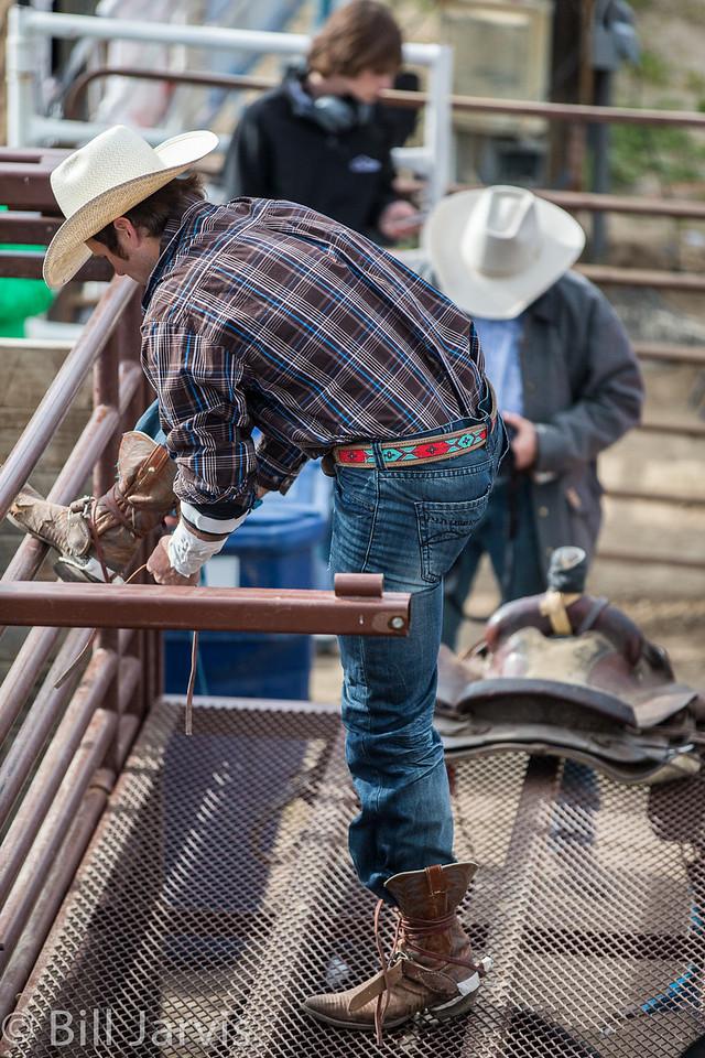 A bull rider