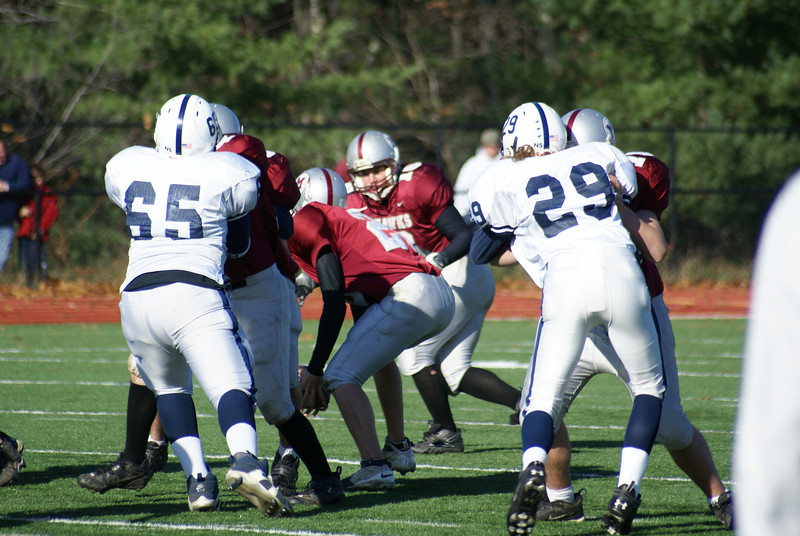 Millis JV football vs. Medway JV football. November 17.  (74 is Josh)