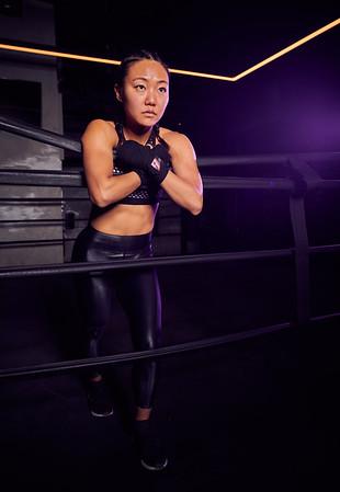 Nov. 9,  2019 - New York, NY   Mindy Lai fitness photoshoot at Everybody Fights Gym NYC  Photographer- Robert Altman Post-production- Robert Altman