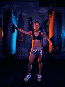 Nov. 9,  2019 - New York, NY   Mindy Lai fitness photoshoot at Everybody Fights Gym NYC  Photographer- Robert Altman Post-production- Robert Altman