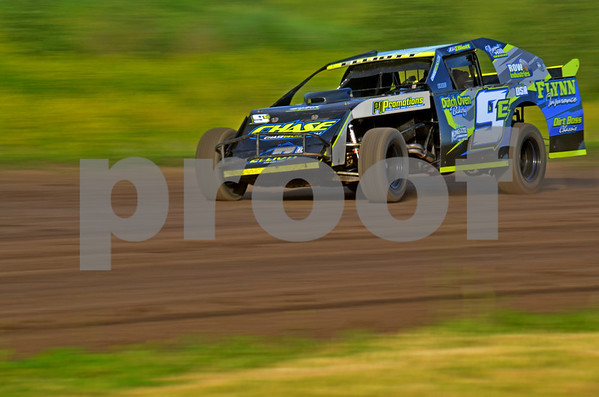 - Messenger photo by Britt Kudla<br /> Boone's Eric Elliott takes 1st in heat 2 of the limited Mod on Sunday at the Mineral City Speedway